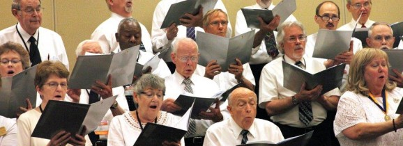Karl (center front) singing witht the Festival Choir